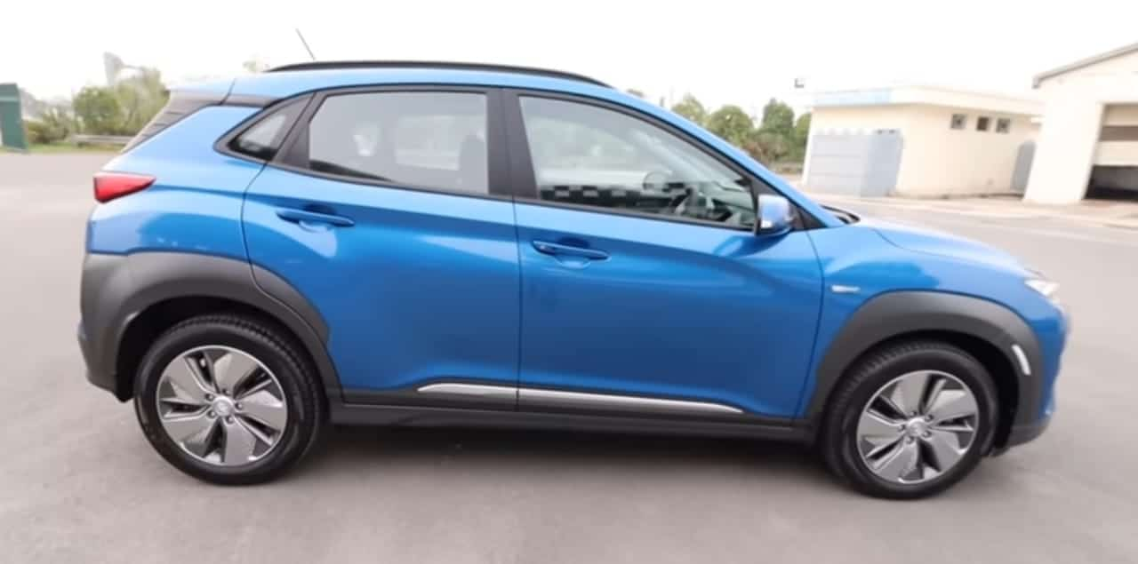 Hyundai Kona Electric side view