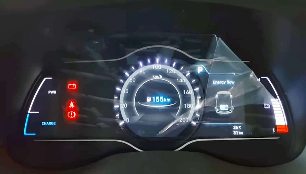 Hyundai Kona Electric speedometer