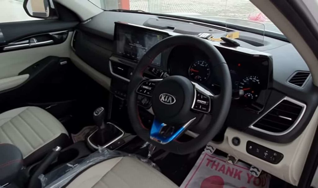 Steering wheel of kia Seltos,Dasboard
