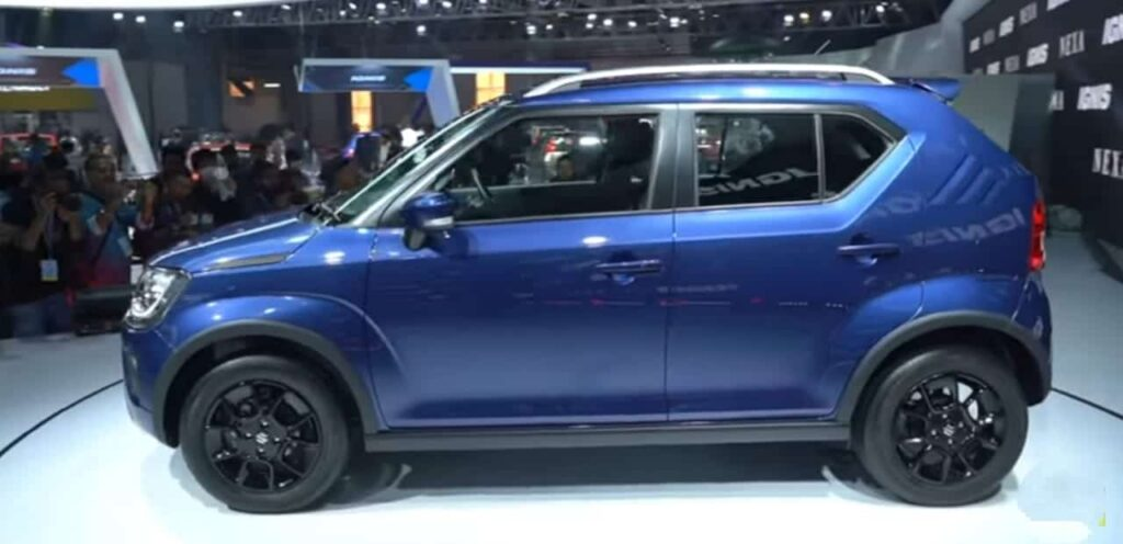 Ignis Facelift blue colour