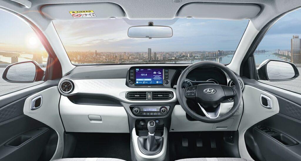 Interior of Hyundai grand i10 Nios