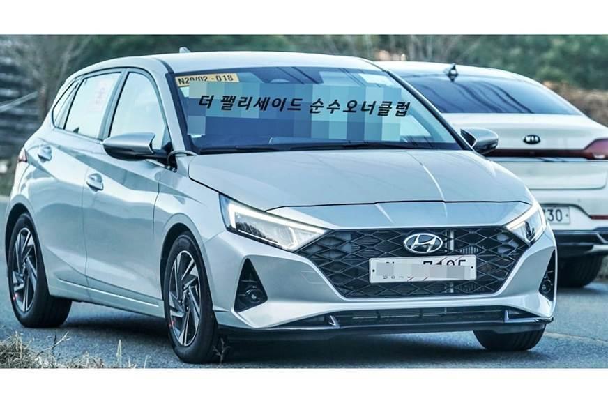 Hyundai i20 front view led lights