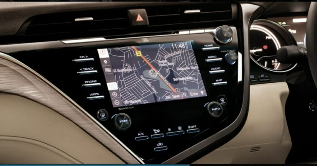 Touch navigation System in Camry Hybrid.