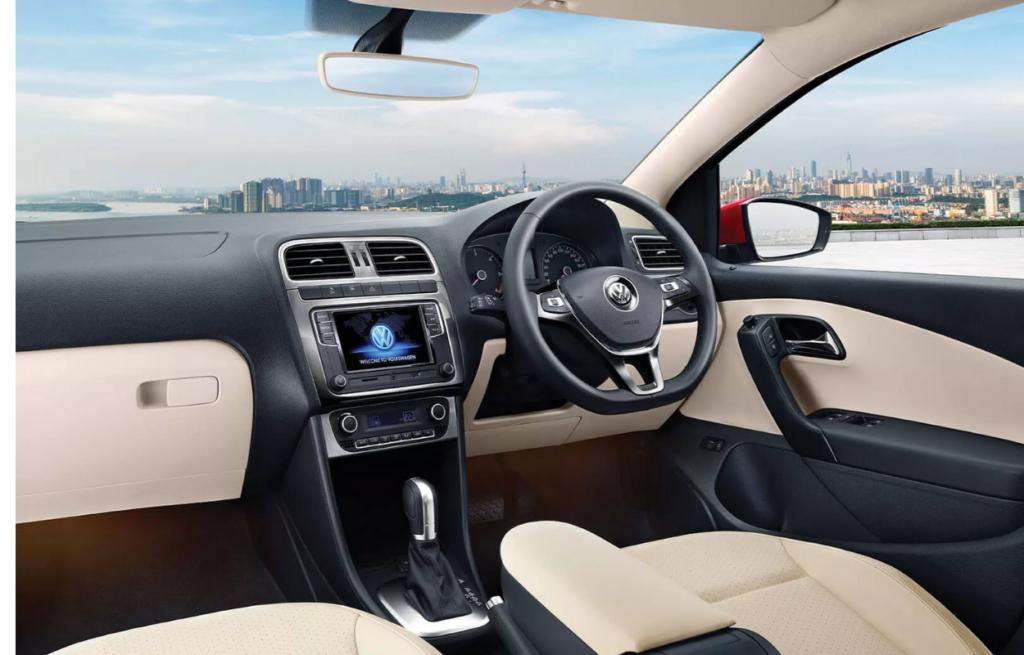 Interior of Volkswagen Vento TSI Edition