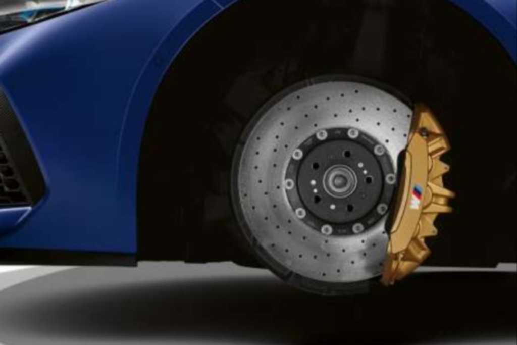 Ceramic brakes used in BMW M8 Coupe
