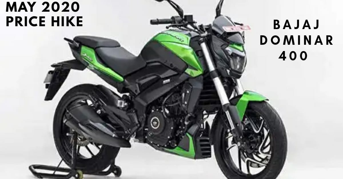 BS6 Bajaj Dominar 400 Price hike, May 2020 price,Features,Specifications,Price Increase.