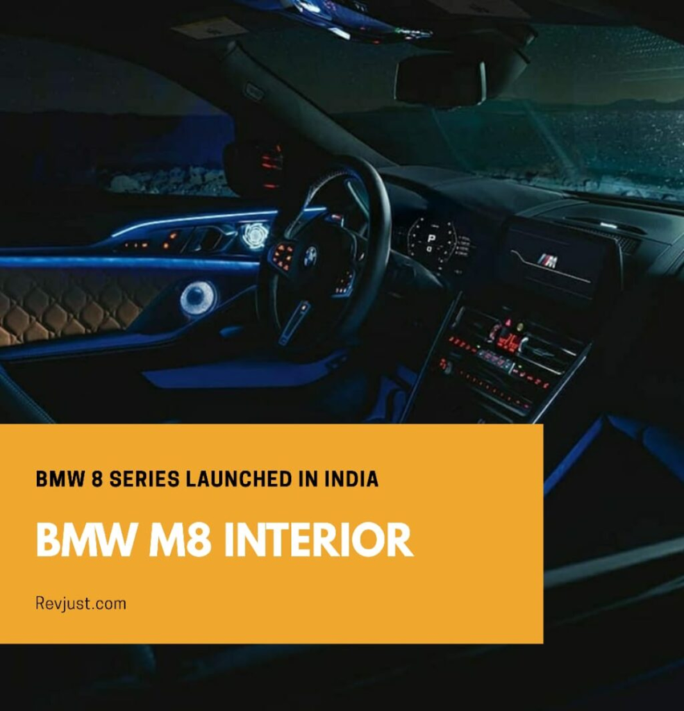 BMW 8 Series Gran Coupe and M8 Launched in India and in this picture it shows the interior of the all new 8 series of the BMW.