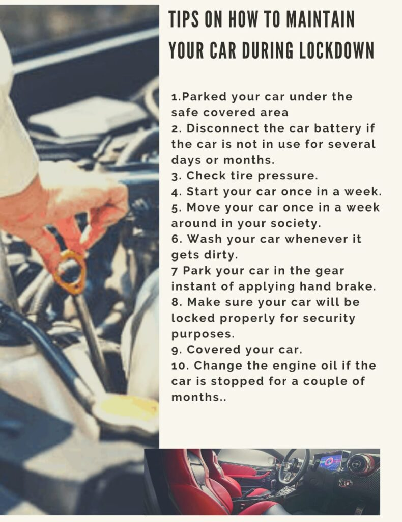 Tips to how to maintain your car in lockdown