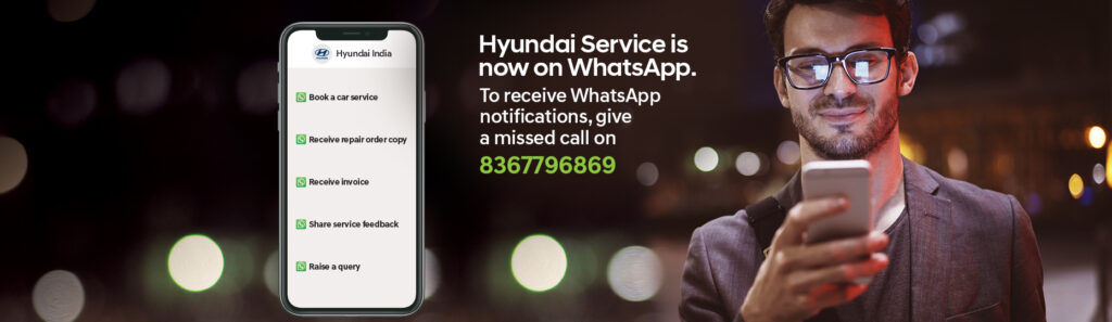 Book Hyundai Car by whatsaap