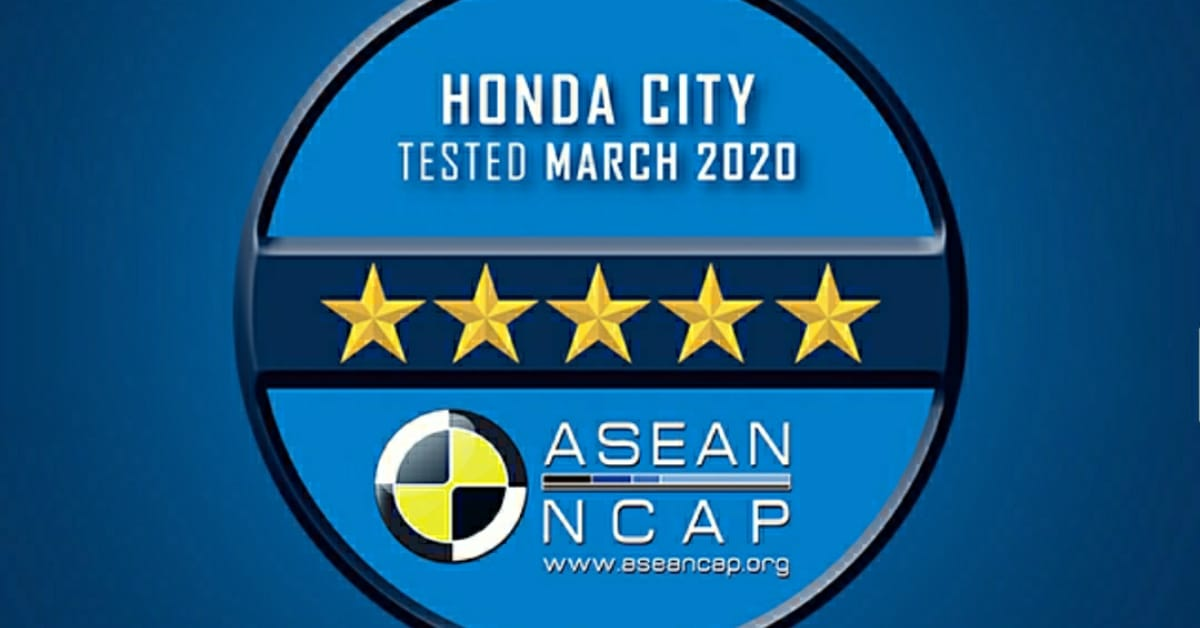 The All-New 2020 Honda City Gets the ASEAN NCAP 5-Star Ratings.