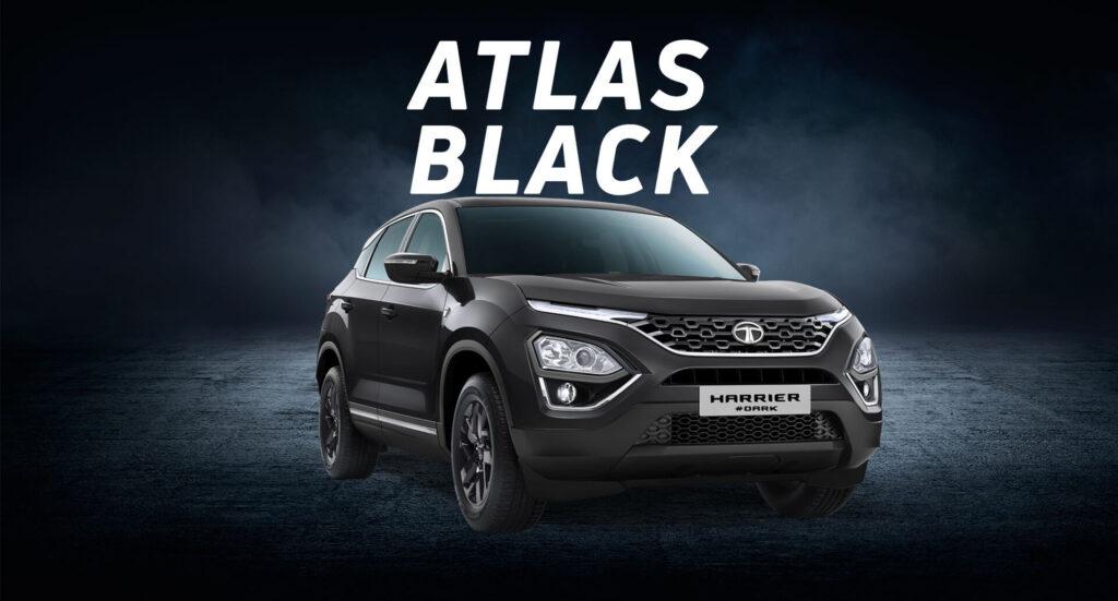 atlas black colour of tata harrier