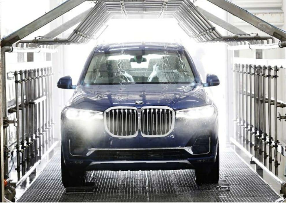 BMW Plant chennai Car wash with treated water