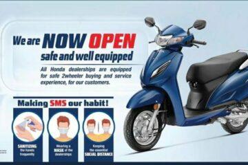 Honda 2 Wheelers dealerships are open