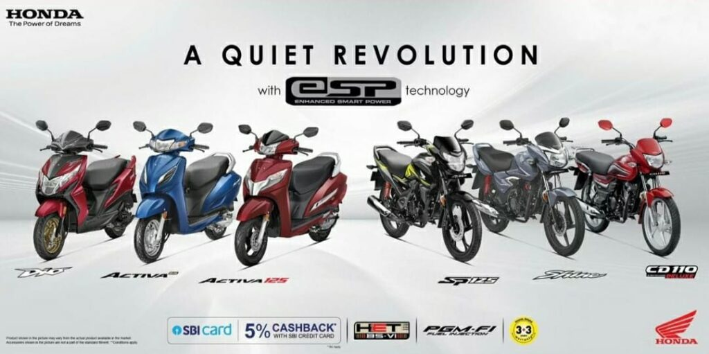 Honda gives a discount of 5% on their two-wheelers. Yes, you heard it write the Honda 2 wheelers gives 5% discount on their BS6 compliant if you Pay through your SBI Credit Card.