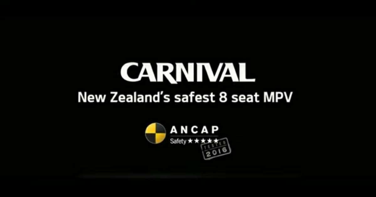 Kia Carnival ANCAP 5-Star Rating MPV Tested Vertical Crash Test from 42 inches