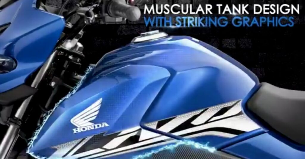2020 Honda Livo Muscular Tank design with striking graphics