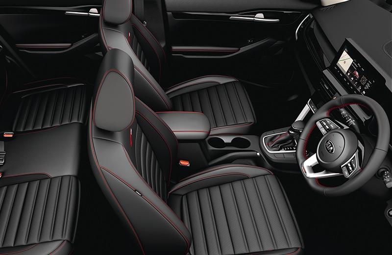2020 KIA SELTOS black interior