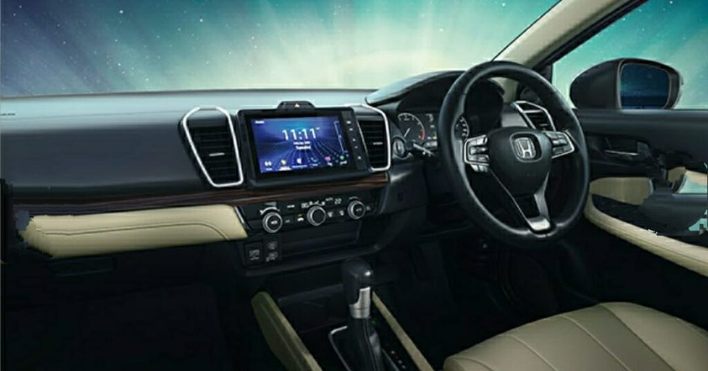 2 Days  to Go the 5th Generation Honda City is launched with Sophisticated and high quality dashboard with soft pad and 20.3 cm advanced touchscreen display audio