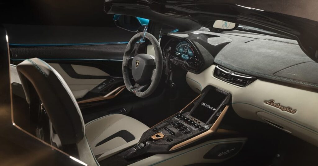 The Interior of Sian Roadster