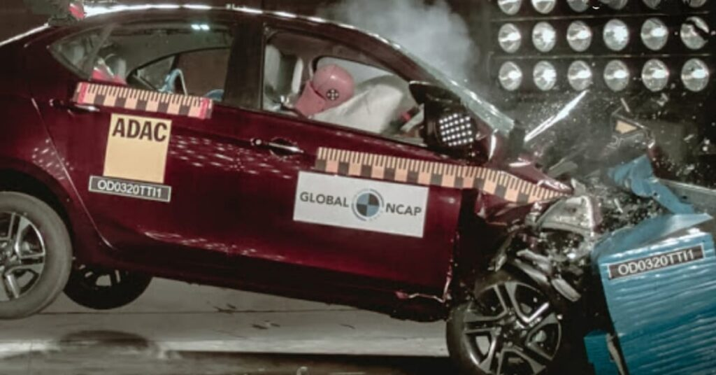 Global NCAP Crash test on Tata Tigor