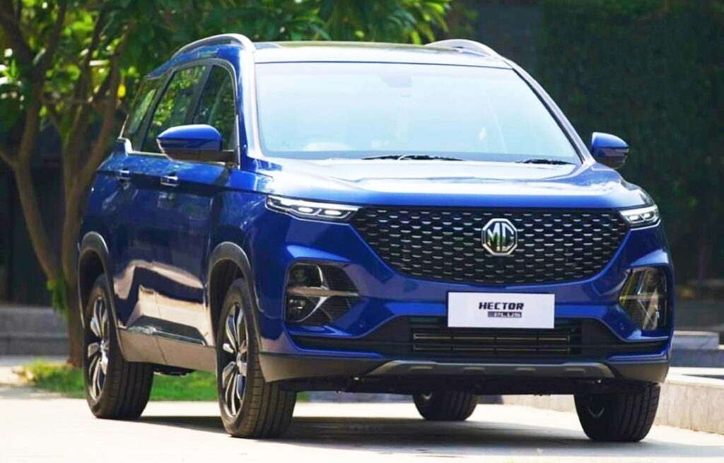 MG Hector plus front looks