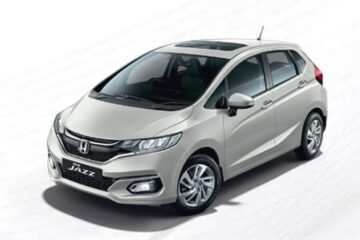 2020 Honda Jazz Platinum White Pearl colour