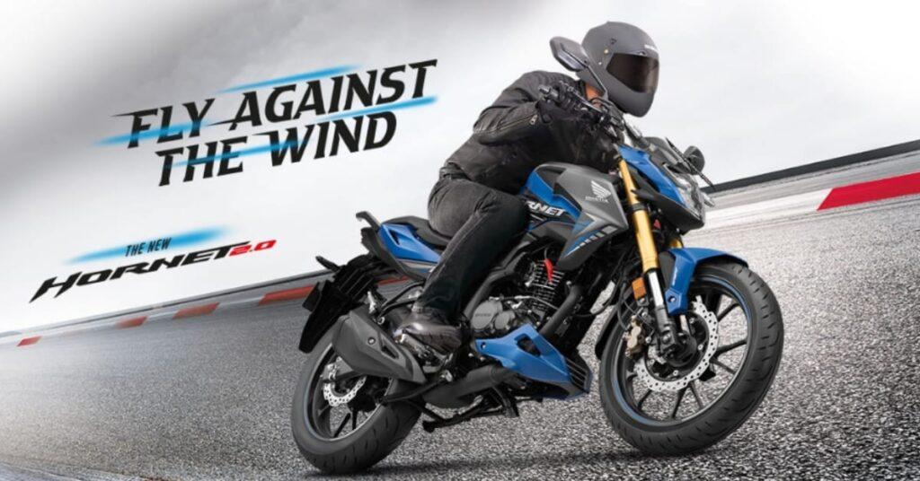 Honda CB Hornet 200R Fwith the powerful 184.4 cc engine