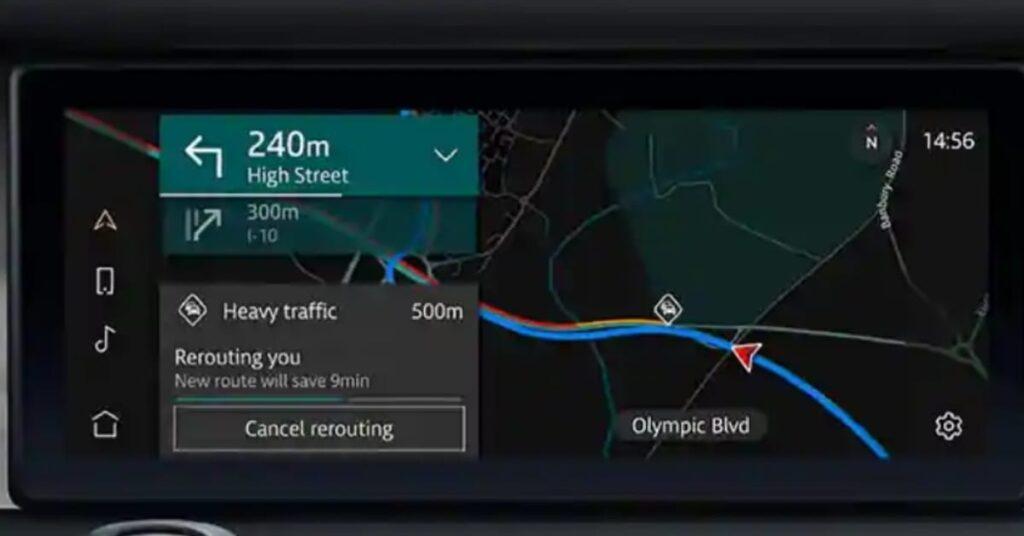 Land Rover Defender New Infotainment System Pivi Pro support Navigation system