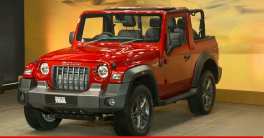 New Mahindra Thar Red Rage