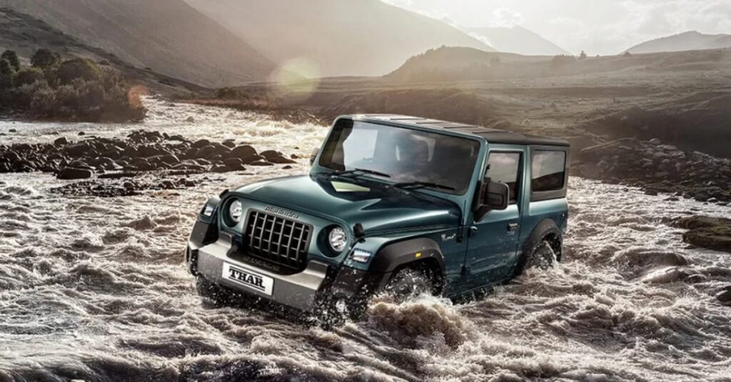 New Mahindra Thar with Esp with roll over migration, built in roll cage, ABS amd Airbags