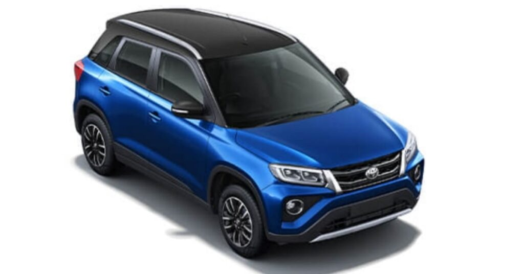 Toyota Urban Cruiser Spunky Blue with sizzling black roof
