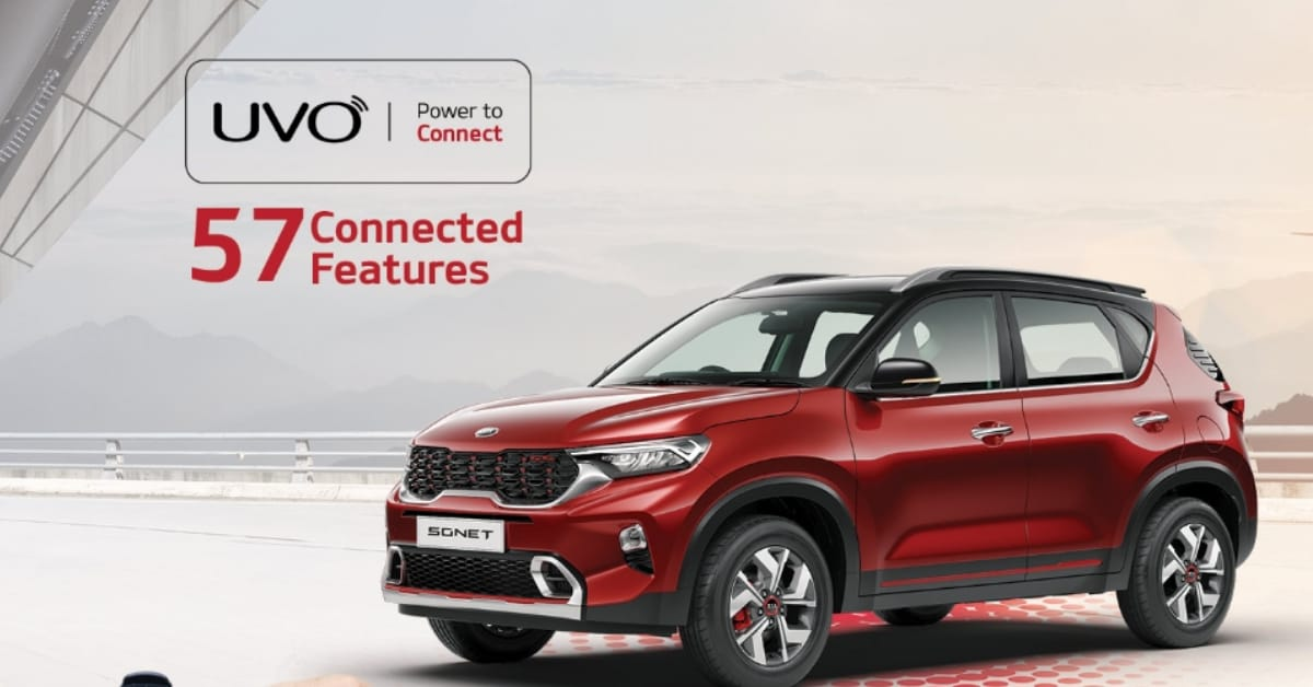 UVO Connected Car Technology with 50 plus connected features