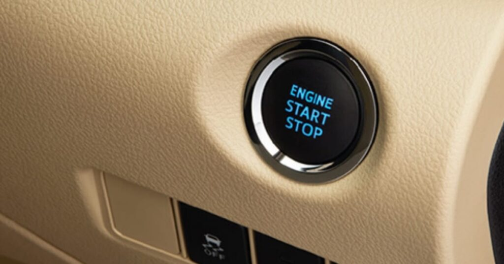 Toyota Yaris Limited Black Edition Engine Start and Stop Button