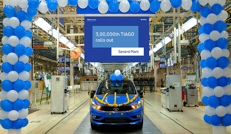 Tata Tiago crossed 3 lakh unit Production milestone