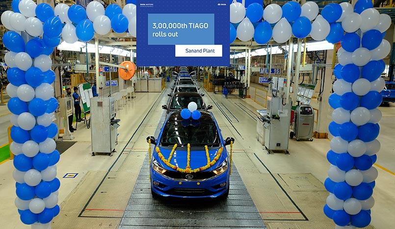 Tata Tiago crossed 3 lakh  unit Production milestone