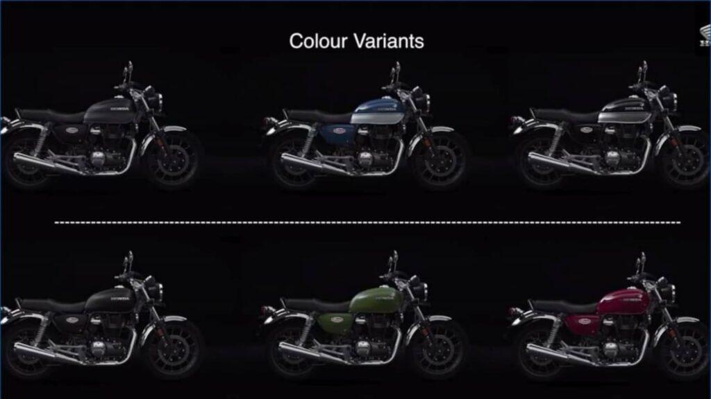 Honda H'ness Colour Options