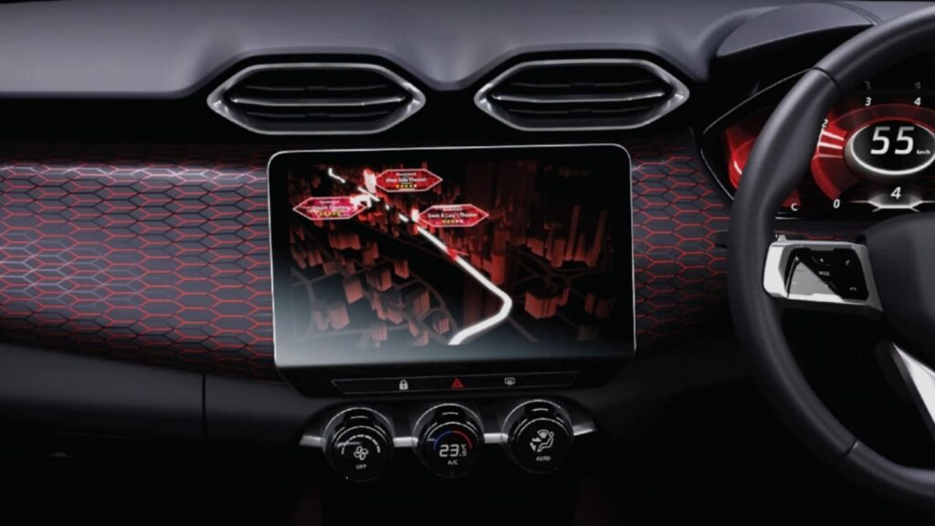 Touchscreen infotainment System in Nissan Magnite