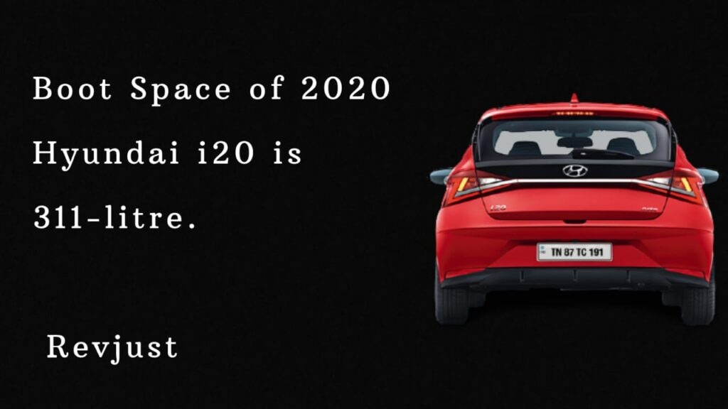Boot Space in 2020 Hyundai i20
