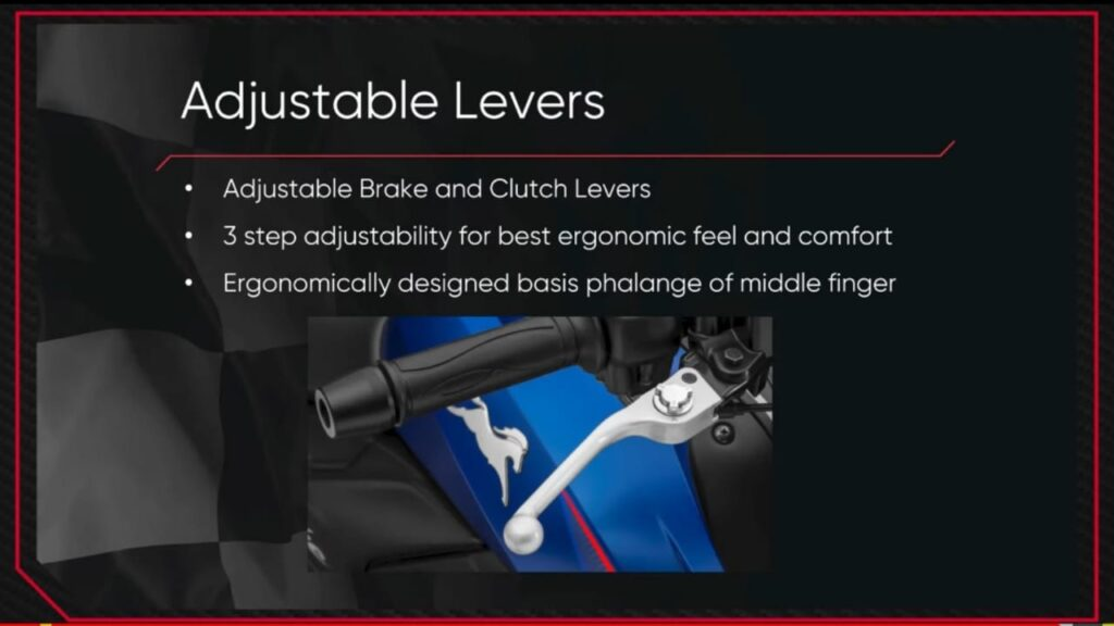 Adjustable levers in apache rtr 200 4v