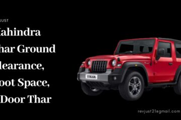Mahindra Thar Ground Clearance, Boot Space
