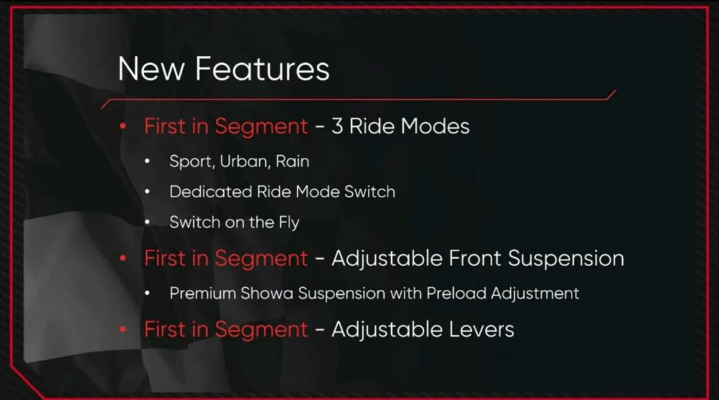 First in Segemnt features in new Apache RTR 200 4V
