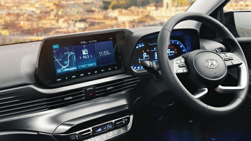 Touchscreen Infotainment system in new i20