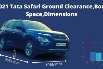 Tata Safari 2021 Ground Clearance, Boot Space and Dimensions.