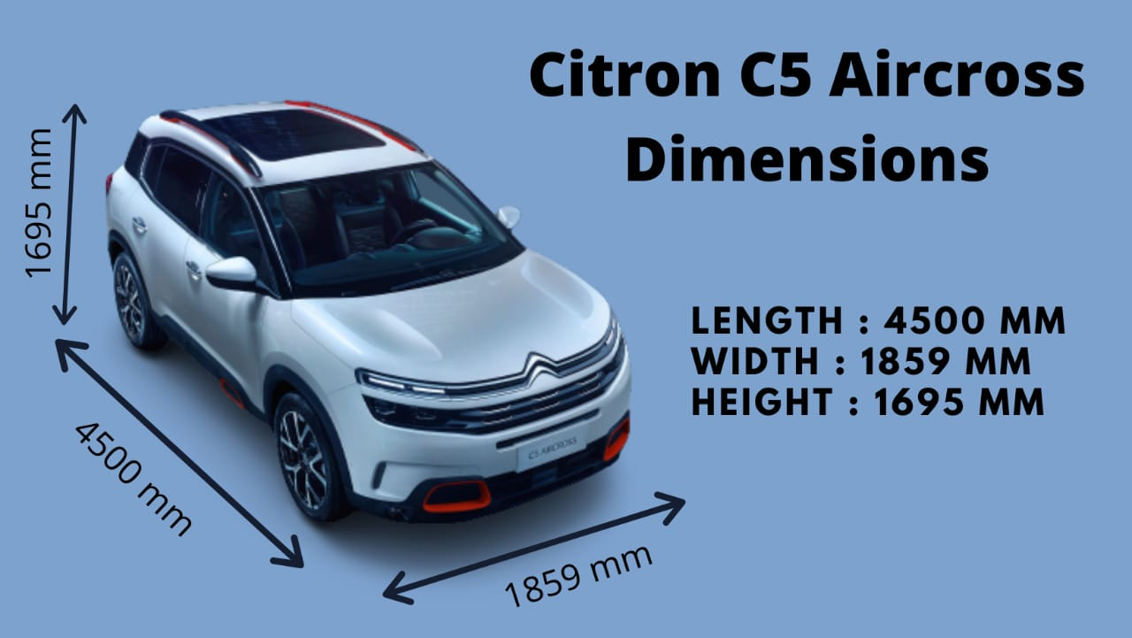 Citron C5 Aircross Ground Clearance, Boot Space, Dimensions